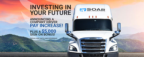 SOAR Transportation Group | Great miles, income, benefits